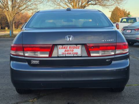 2004 Honda Accord for sale at Lake Ridge Auto Sales in Woodbridge VA