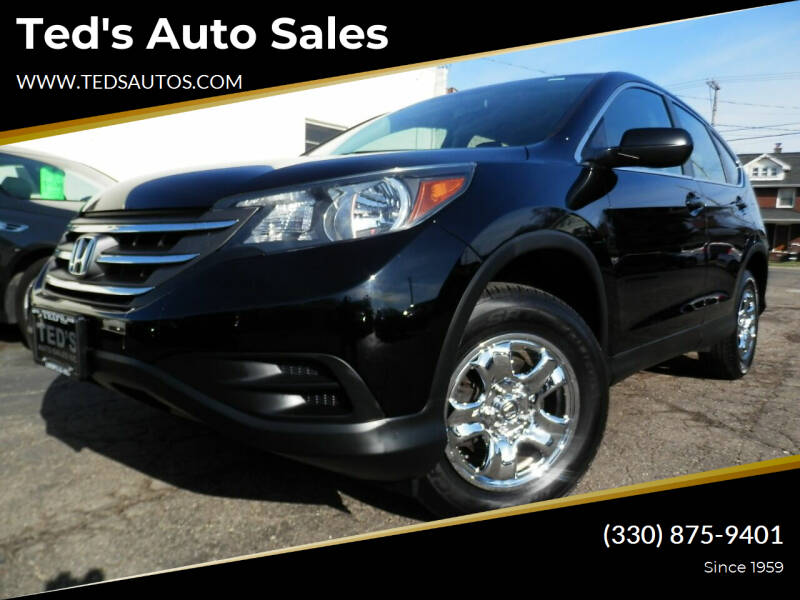 2013 Honda CR-V for sale at Ted's Auto Sales in Louisville OH