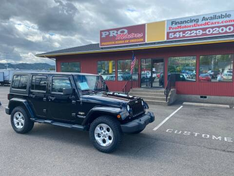 2014 Jeep Wrangler Unlimited for sale at Pro Motors in Roseburg OR