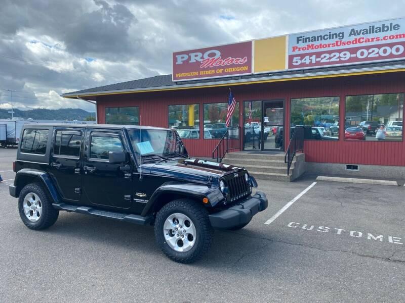 2014 Jeep Wrangler Unlimited for sale at Pro Motors in Roseburg OR