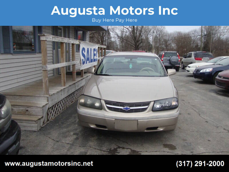 2003 Chevrolet Impala for sale at Augusta Motors Inc in Indianapolis IN