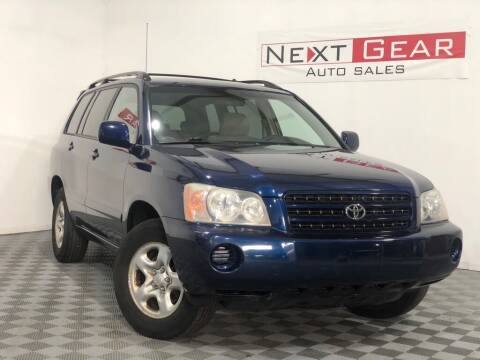 2003 Toyota Highlander for sale at Next Gear Auto Sales in Westfield IN