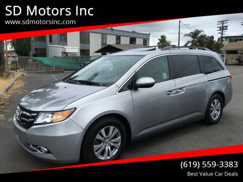 2017 Honda Odyssey for sale at SD Motors Inc in La Mesa CA