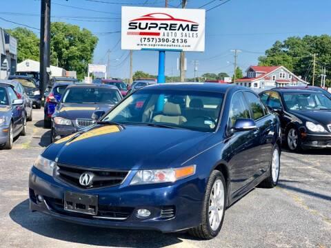 2006 Acura TSX for sale at Supreme Auto Sales in Chesapeake VA