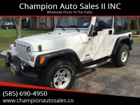 2006 Jeep Wrangler for sale at Champion Auto Sales II INC in Rochester NY