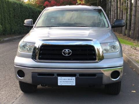 2007 Toyota Tundra for sale at CLEAR CHOICE AUTOMOTIVE in Milwaukie OR