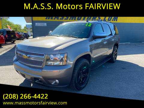 2012 Chevrolet Tahoe for sale at M.A.S.S. Motors - Fairview in Boise ID
