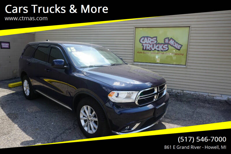 2015 Dodge Durango for sale at Cars Trucks & More in Howell MI