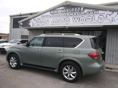 2012 Infiniti QX56 for sale at Don Auto World in Houston TX