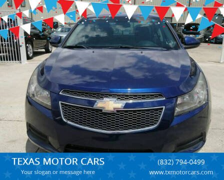 2012 Chevrolet Cruze for sale at TEXAS MOTOR CARS in Houston TX