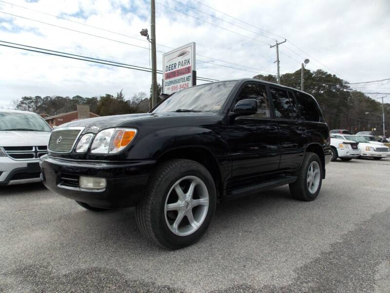 1999 Lexus LX 470 for sale at Deer Park Auto Sales Corp in Newport News VA
