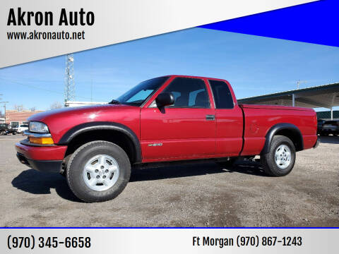 2002 Chevrolet S-10 for sale at Akron Auto in Akron CO