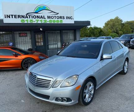 2011 Mercedes-Benz E-Class for sale at International Motors Inc. in Nashville TN