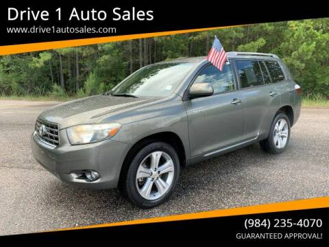2008 Toyota Highlander for sale at Drive 1 Auto Sales in Wake Forest NC