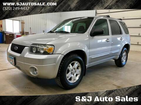 2006 Ford Escape for sale at S&J Auto Sales in South Haven MN