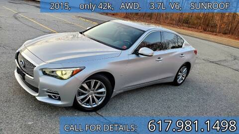 2015 Infiniti Q50 for sale at Wheeler Dealer Inc. in Acton MA