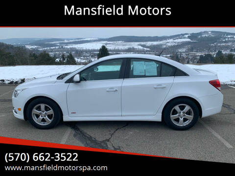2014 Chevrolet Cruze for sale at Mansfield Motors in Mansfield PA