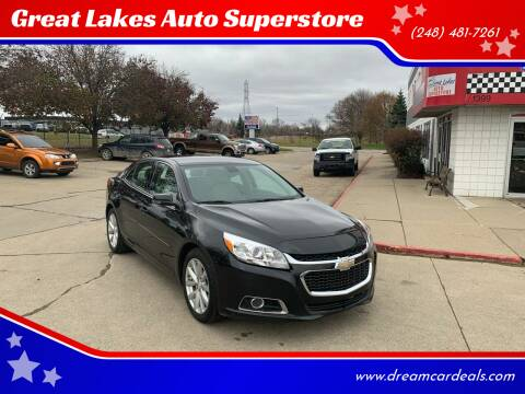 2015 Chevrolet Malibu for sale at Great Lakes Auto Superstore in Pontiac MI