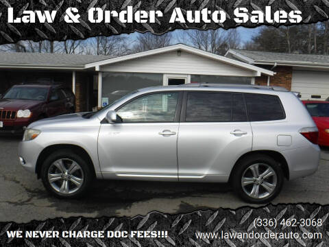 2008 Toyota Highlander for sale at Law & Order Auto Sales in Pilot Mountain NC