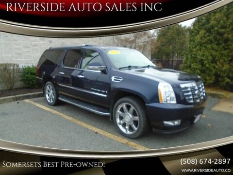 2008 Cadillac Escalade ESV for sale at RIVERSIDE AUTO SALES INC in Somerset MA