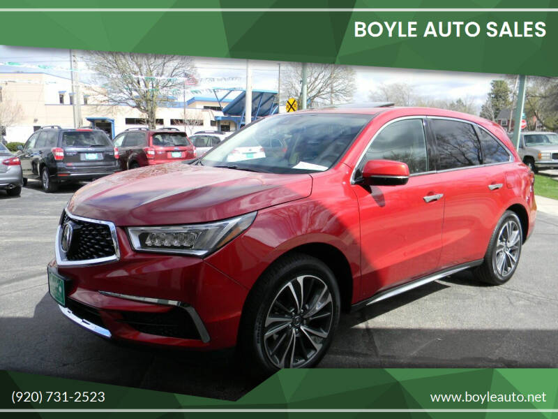 2020 Acura MDX for sale at Boyle Auto Sales in Appleton WI