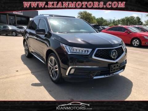 2017 Acura MDX for sale at KIAN MOTORS INC in Denton TX