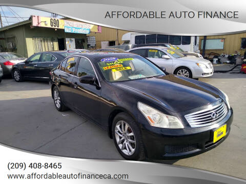 2008 Infiniti G35 for sale at Affordable Auto Finance in Modesto CA