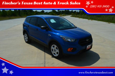2018 Ford Escape for sale at Fincher's Texas Best Auto & Truck Sales in Tomball TX