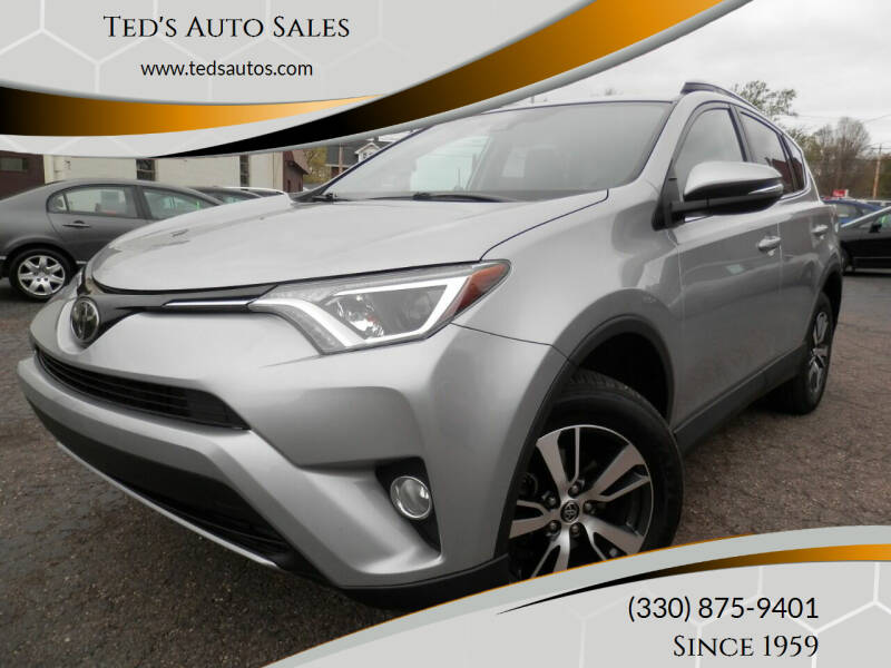 2018 Toyota RAV4 for sale at Ted's Auto Sales in Louisville OH