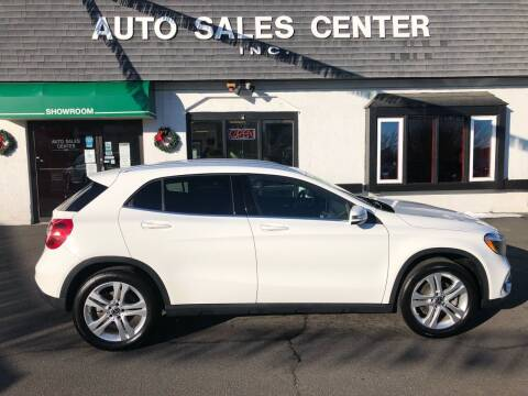 2019 Mercedes-Benz GLA for sale at Auto Sales Center Inc in Holyoke MA