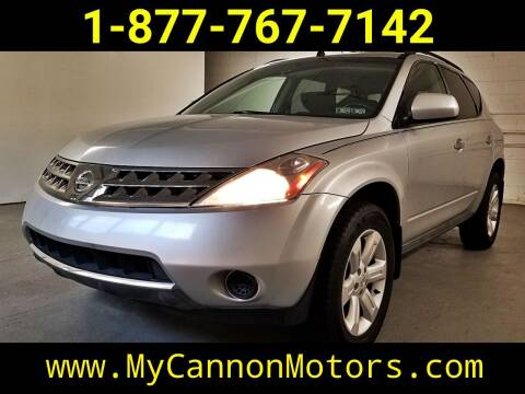 2007 Nissan Murano for sale at Cannon Motors in Silverdale PA