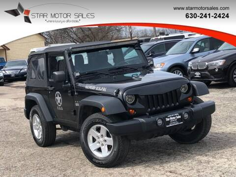2013 Jeep Wrangler for sale at Star Motor Sales in Downers Grove IL