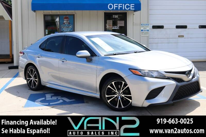 2018 Toyota Camry for sale at Van 2 Auto Sales Inc in Siler City NC