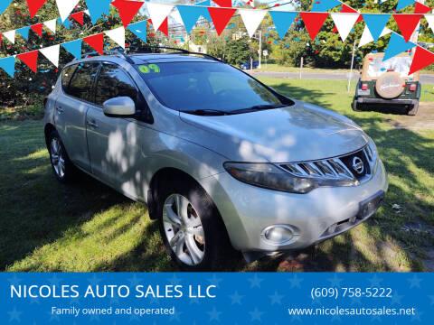 2009 Nissan Murano for sale at NICOLES AUTO SALES LLC in Cream Ridge NJ