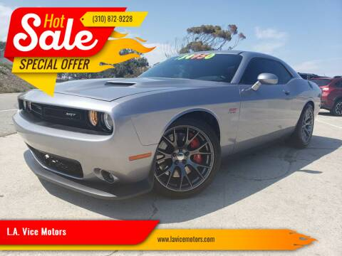 2015 Dodge Challenger for sale at L.A. Vice Motors in San Pedro CA