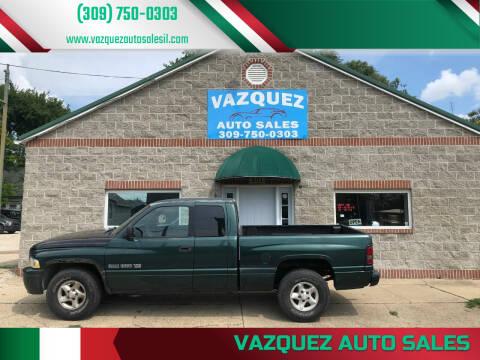 2001 Dodge Ram Pickup 1500 for sale at VAZQUEZ AUTO SALES in Bloomington IL