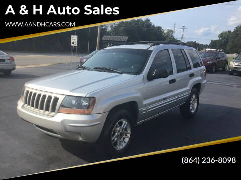 2004 Jeep Grand Cherokee for sale at A & H Auto Sales in Greenville SC