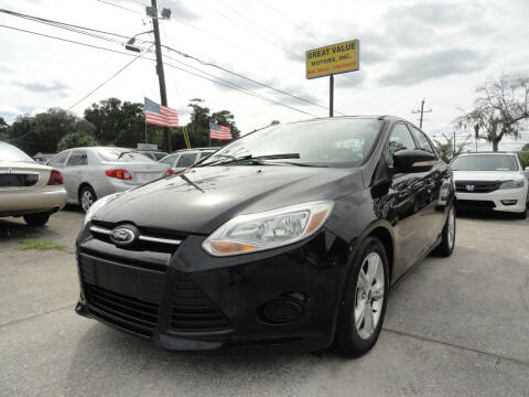 2014 Ford Focus for sale at GREAT VALUE MOTORS in Jacksonville FL