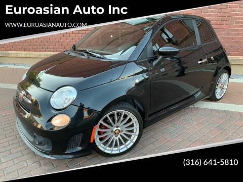 2013 FIAT 500 for sale at Euroasian Auto Inc in Wichita KS