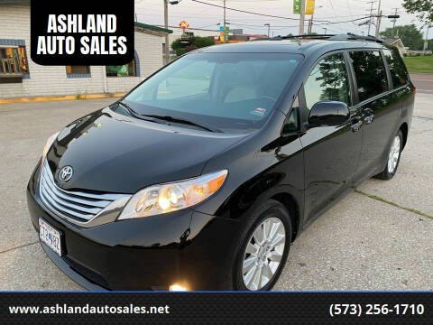 2012 Toyota Sienna for sale at ASHLAND AUTO SALES in Columbia MO