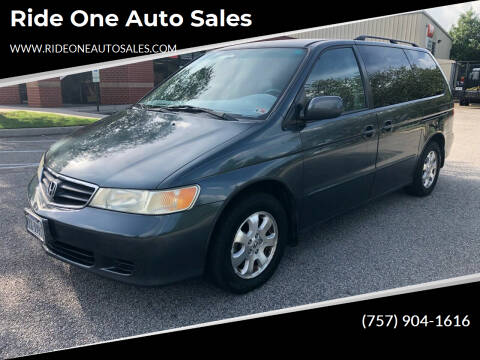 2003 Honda Odyssey for sale at Ride One Auto Sales in Norfolk VA