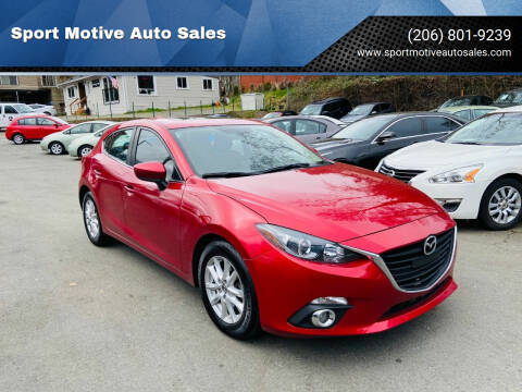 2015 Mazda MAZDA3 for sale at Sport Motive Auto Sales in Seattle WA