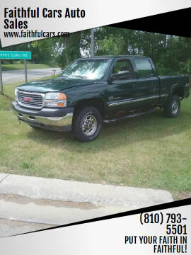 2001 GMC Sierra 2500HD for sale at Faithful Cars Auto Sales in North Branch MI