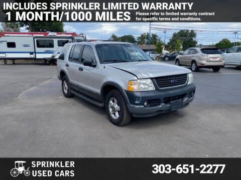 2003 Ford Explorer for sale at Sprinkler Used Cars in Longmont CO