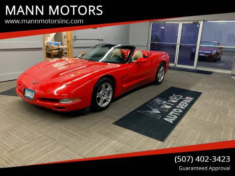1998 Chevrolet Corvette for sale at MANN MOTORS in Albert Lea MN