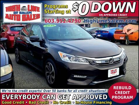 2016 Honda Accord for sale at High Line Auto Sales of Salem in Salem NH