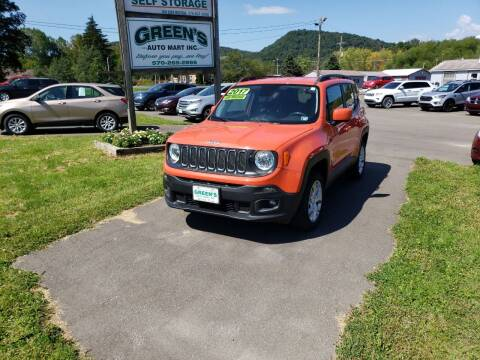 2017 Jeep Renegade for sale at Greens Auto Mart Inc. in Wysox PA