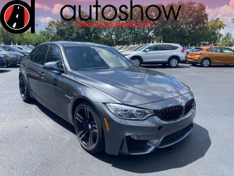 2017 BMW M3 for sale at AUTOSHOW SALES & SERVICE in Plantation FL