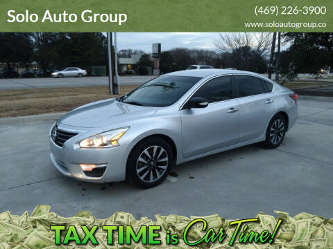 2015 Nissan Altima for sale at Solo Auto Group in Mckinney TX
