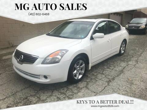 2007 Nissan Altima for sale at MG Auto Sales in Pittsburgh PA